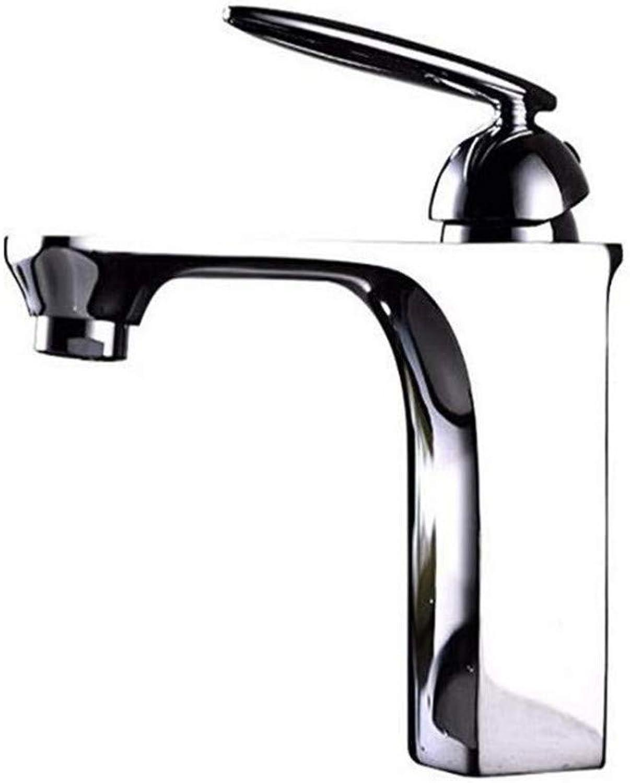 Wasserhahnkupfer Einlochmontage Einhand-Warmes Und Kaltes Wasserhahn Sitzart Keramik Ventilkern Küche Bad Becken Wasserhahn Bad Waschbecken Wasserhhne