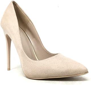 8c77b2b3e56d57 Angkorly - Chaussure Mode Escarpin Stiletto decolleté Femme Talon Haut  Aiguille