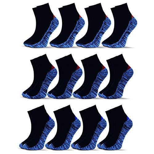 Socksberg Arbeitssocken kurz Herren (12 Paar) | Langlebige & Fusselfreie Anti Schweiß Sneaker Socken | Work Socken | Kurze Arbeitssocken Sommer | Arbeitsstrümpfe, Arbeits Socken 43-46