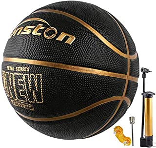 Senston Training Basketball Outdoor Rubber Basketball Ball Official Size 7 Street Basketball with Pump