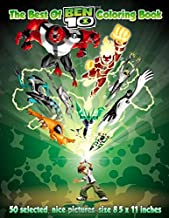 The Best Of:  Ben 10: Coloring Book - 50 selected, nice pictures, size 8.5 x 11 inches