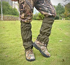 JJZS Adjustable Hunting Leg Gaiters 600D Oxford Snake Gaiters Waterproof Snow Boot Gaiters for Hiking,Climbing, Hunting, Snowshoeing, Skiing, Snow Motorcycle,Trekking,Runing, Rattlesnakes
