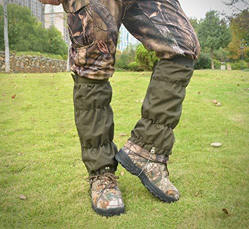 Adjustable Thicken Leg Gaiters, 600D Oxford Snake Gaiters, Waterproof Snow...