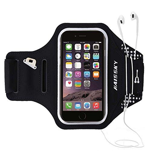 Fascia da Braccio Bracciale Sportiva Sweatproof Bracciale per Corsa Esercizi con Supporto Chiave e Riflettente Armband per iPhone X/XS/XR 8 Plus/7 Plus Samsung S8+ S7 Edge da Corsa Maratona Palestra