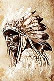 Bilderdepot24 Fototapete selbstklebend Indianer mit