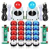 EG STARTS 2 jugadores Arcade DIY Kits partes 2 pegatinas + 20 botones LED...
