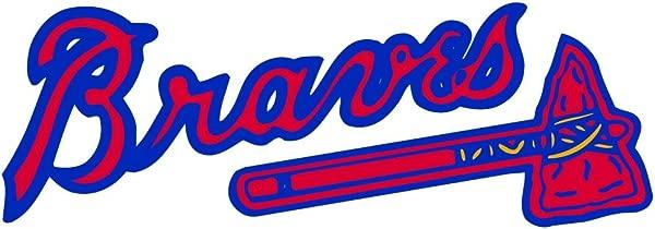 Skyhighprint Atlanta Braves MLB Baseball Sport Set Of 2 Decor Vinyl Print Sticker 14 X 5