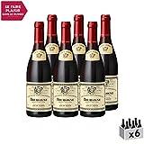 Bourgogne Couvent des Jacobins Rouge 2017 - Louis Jadot - Vin AOC Rouge de Bourgogne - Cépage Pinot Noir - Lot de 6x75cl