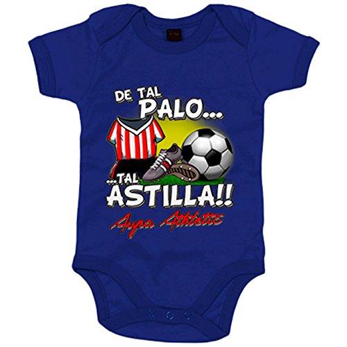 Body bebé De tal palo tal astilla Athletic fútbol Bilbao - Azul Royal, 6-12 meses