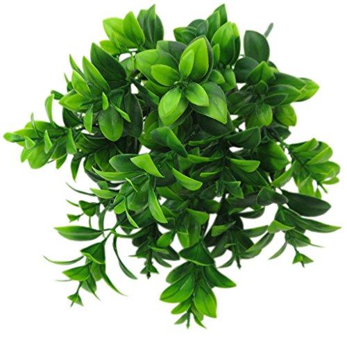 MERIGLARE Folhas Verdes Artificiais Relva Cacho Folhagem Decoração Boisai - Tipo D