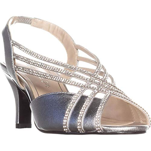 Caparros Womens Twilight 2 Open Toe Special Occasion Slingback Silver