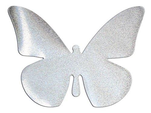 Folius Reflektor zum Aufbügeln, Motiv Schmetterling aus reflektierender Bügelfolie