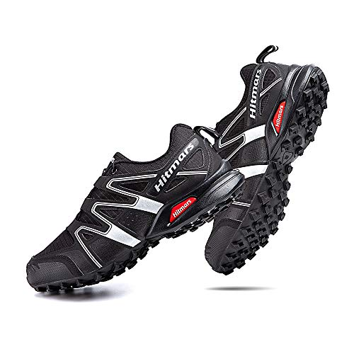 Zapatillas Trail Running Hombre Mujer Impermeables Zapatos Trekking Ligero Botas Senderismo Bajos Multideporte A Negro-Blanco Talla EU 40