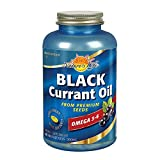Nature's Life Black Currant Oil Minis 500mg | with Omega 3-6 for Skin, Hair, Heart and Joint Health | 180ct