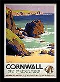 Cornwall GWR Monatlich Kehrt zurück Tickets Gerahmter
