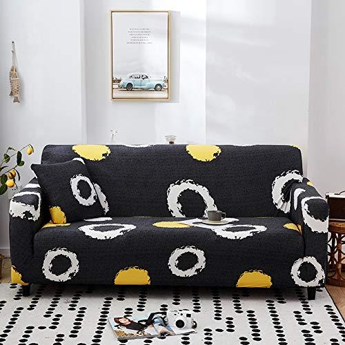 PPMP Funda de sofá elástica elástica para Sala de Estar Fundas universales para sillas Funda de sofá seccional Funda de sillón en Forma de L A6 1 Plaza