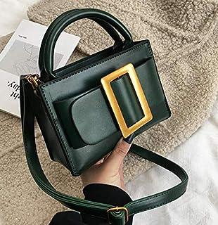 Adebie - European Vintage Belt Fashion Small Tote Bag 2019 New Quality PU Leather Women's Brand Designer Handbag Shoulder Messenger Bags 19 X 9 X 13 cm Green [19 X 9 X 13 cm]