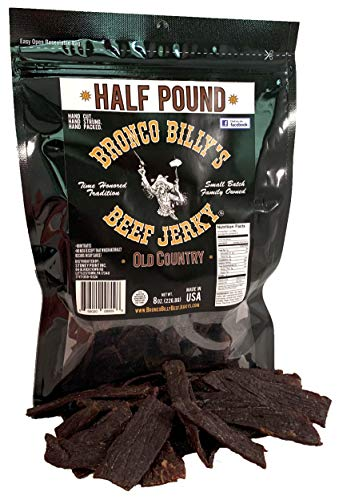 Bronco Billy's Beef Jerky Old Country Half Pound Bag