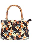 SugarShock retro Hawaii Flower Hibiskus Blüten Rockabilly Bambus Handtasche