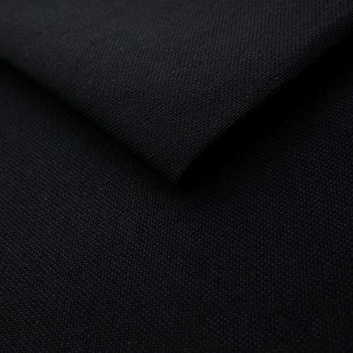 Teker Mona Polsterstoff Möbelstoff Meterware - z.B. Stoff für Stühle oder Eckbank Bezug - Schwarz