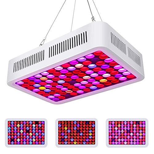 LED RD-600 Lámpara de Ia Planta,Roleadro Doble dimmer VEG & Bloom led grow light Espectro Completo LED Cultivo Para Plantas de Interior Verdura Flores
