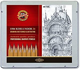 KOH-I-NOOR 8B-10H Graphite Pencil in Tin (Pack of 24)