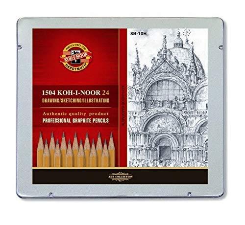 Koh-I-Noor 1504 - Lápices de grafito, 24 unidades