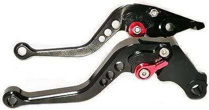 Unlimited 6 Adjustable Position Black Brake Clutch Lever for Suzuki SV650 1999-2009, DL650 / V-STROM 2004-2010, 600/750 KATANA 1998-2006