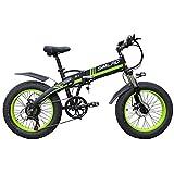 CHHD Bicicleta de montaña eléctrica de 20 Pulgadas, batería de Litio de 48 V, Marco Oculto, Motor de Alta Velocidad de 3500 W, Velocidad máxima de 30 km/H, Bicicleta eléctrica Suave