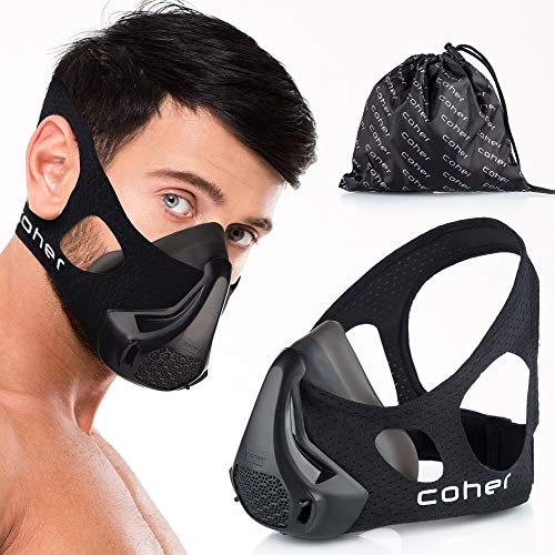 coher Training Mask Workout Breathing Mask for Men and Women – Adjustable Resistance Levels – Increase Lung Capacity and Endurance – Ideal for Jogging Sports Cycling Fitness
