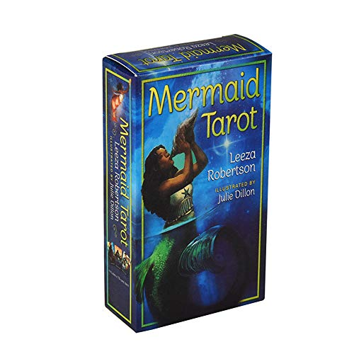 Mermaid Tarot Kartenspiel Englisch Illuminati Kit Tarot Deck Tabellen-Karte Brettspiele Familie Feiertags-Party-Spielkarten Englisch Tarot-Spiel-Karte