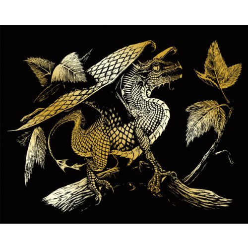 Royal & Langnickel 20,3 x 25,4 cm Baby Dragon vorgedrucktes Folienset – Gold