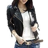 レザージャケット [Marshel] レディース バイク ライダース ジャケット ブラック Mサイズ