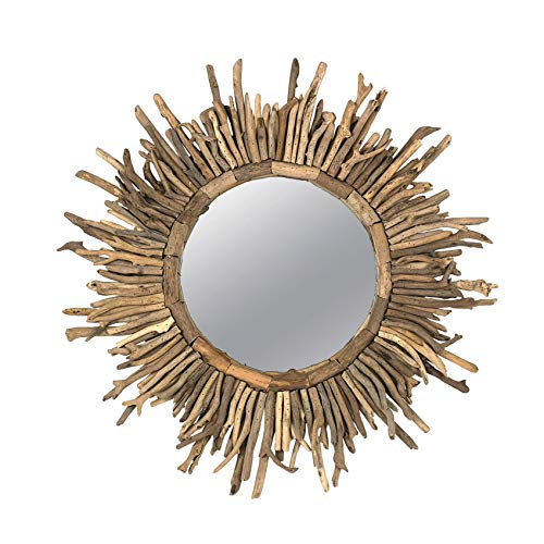 Creative Co-op Driftwood Sunburst Mirror