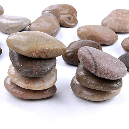 20 pcs 2-3 inch Natural Rocks for Painting Kindness rocks Crafting Party Pack Bundle River Stones for Painting Crafts – Natural Smooth Surface Arts & Crafting Rock Painting Supplies for Kid Painters