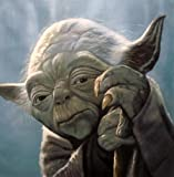 Yoda Star Wars Ölgemälde 24x 24handbemalt