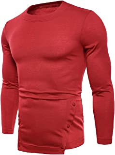 RkBaoye Men Pullover Various Colors Crew Neck Solid Colored Tee Shirt