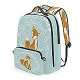 Linomo - Mochila infantil extraíble, con diseño de zorro, para negocios, colegios o viajes, mochila escolar, mochila de día para niños, niñas, mujeres y hombres