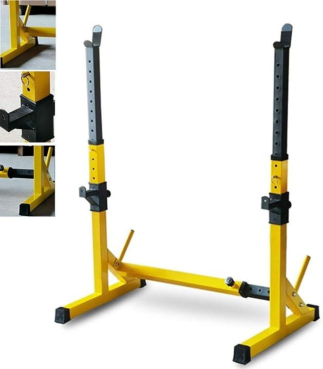 Supporto professionale per bilanciere regolabile supporto pesi rack squat casa fitness B087M543HM