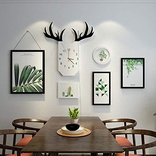 ZPQJH Familie Kunst Achtergrond Muur fotolijst Sofa Mural Fotobehang Achtergrond Decoratieve Fotolijst Combinatie Restaurant Wandbeeld