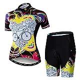 weimostar Ciclismo Jersey Pantalones Cortos Conjunto Traje De Las Mujeres Bicicletas Tops Camisa Bicicleta De Montaña