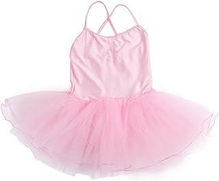 comprar comparacion Happy Cherry - Maillot de Ballet Traje de Danza Vestido Elástico de Baile Tutú para Niñas Leotarto con Braguita Interior T...