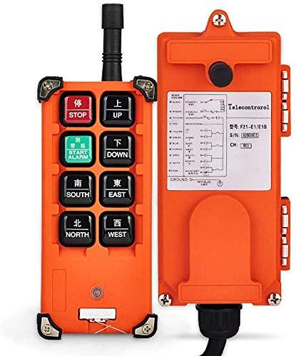 MXBAOHENG Drahtlose Kranfernbedienung 220V Industrielle Funkfernbedienung F21-E1B Elektrische Hebezeugfernbedienung für Winde/Ankerwinde/Hubkran