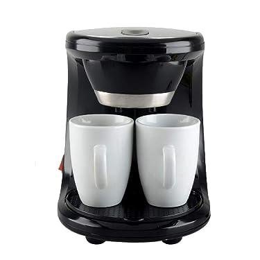 Salalook kaffeevollautomat klein abmessungen,kaffeevollautomat mit 2 Tassen und 1Löffel für Kaffeepulver/Kaffeebohnen,2-Tassen-Funktion,schwarz-silber