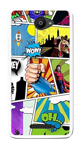 Tumundosmartphone Funda Gel TPU para BQ AQUARIS U/U Lite diseño Comic Dibujos