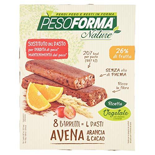 Pesoforma Nature Barretta Avena Arancia Cacao 4 Pasti, 8 Barrette - 238 Ml