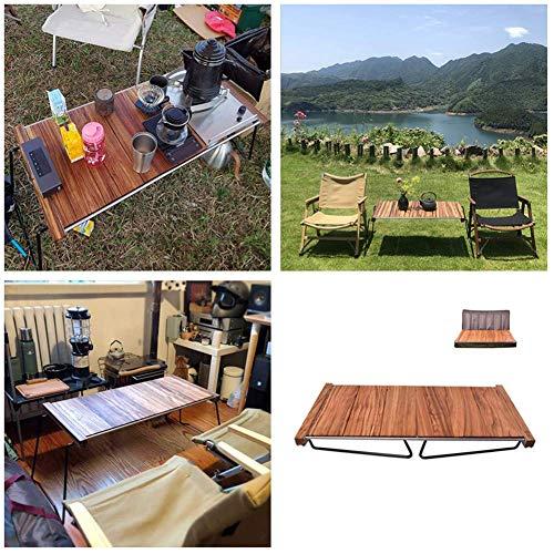 51QtZlw+mVL - Klappbarer Camping-Tisch Tragbarer Picknicktisch Ebenholz Kombinierter Multifunktions-Klapptisch mit Aufbewahrungstasche für Catering Camping Trestle Picknickgarten Patio BBQ Party Lili