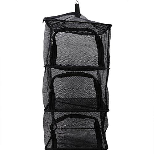 Pinhan 4 capas de platos de camping al aire libre Almacenamiento Red Multifunction Kitchen Net Folding Dry Folding Bowl Dry DryEr To Hang Basket