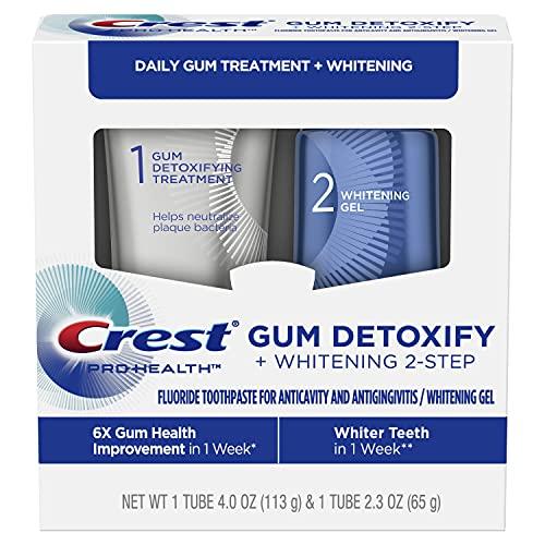 Crest Gum Detoxify + Whitening 2 Step Toothpaste, 4.0 oz and 2.3 oz