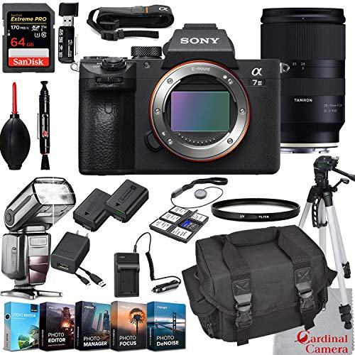 Lowest Price! Sony Alpha a7 III Mirrorless Digital Camera with Tamron 28-75mm Lens Bundle + Extreme ...